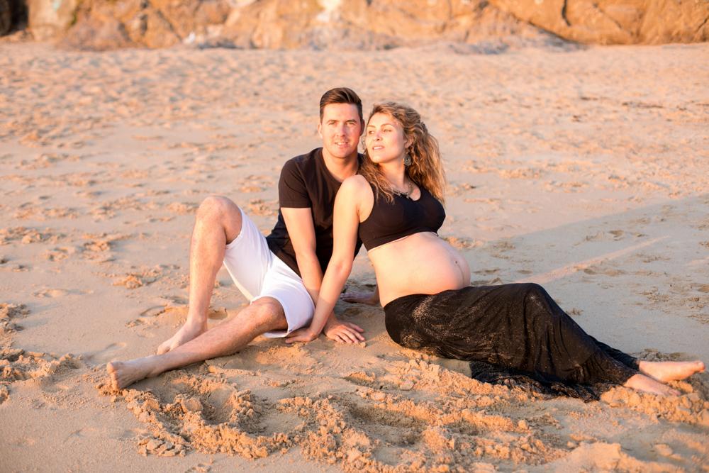 Séance photos de grossesse à la plage, Pornichet
