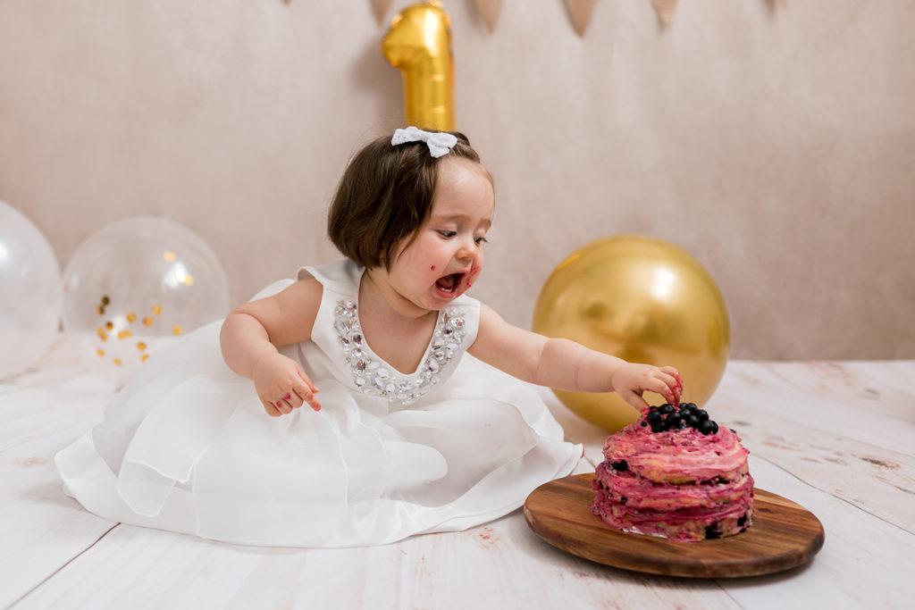 Smash the cake, seance premier anniversaire à Nantes, Reze